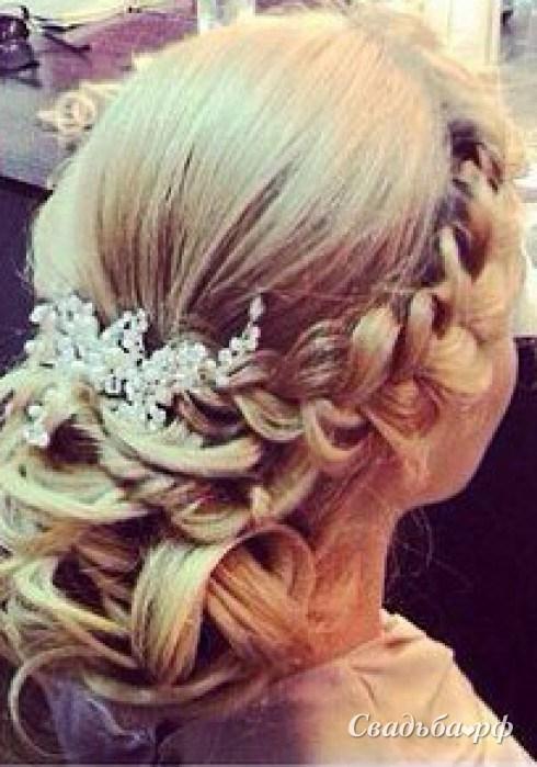 Прическа на свадьбу парикмахер